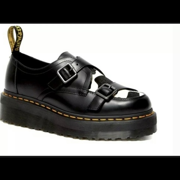 Dr. Martens Sidney Hair On Creeper Platform Shoes